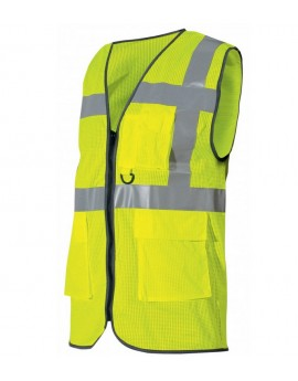 GILET HAUTE VISIBILITE MULTIPOCHES CHASUBLE SAFARI AIR