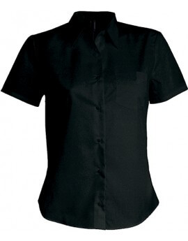CHEMISE FEMME MANCHES COURTES POPELINE