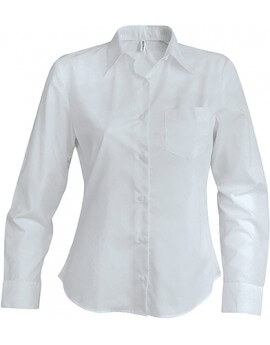 CHEMISE FEMME MANCHES LONGUES POPELINE